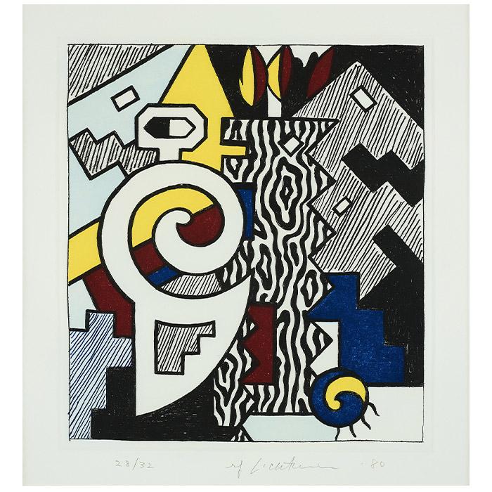 "Roy Lichtenstein, ""Dancing figures"", 1980"