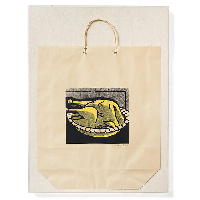 """Roy Lichtenstein, """"Turkey shopping bag"""", 1964"""