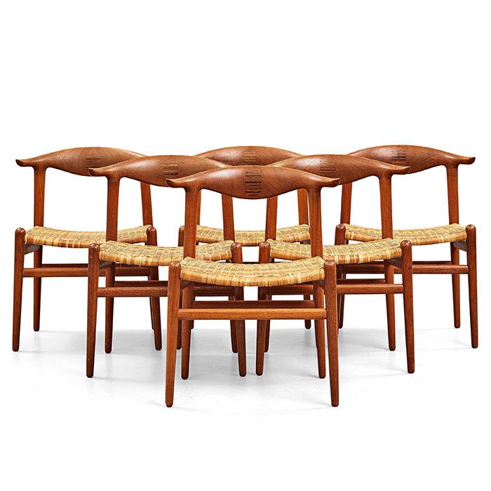 """Hans J Wegner, """"Cowhorn"""" Chairs"""