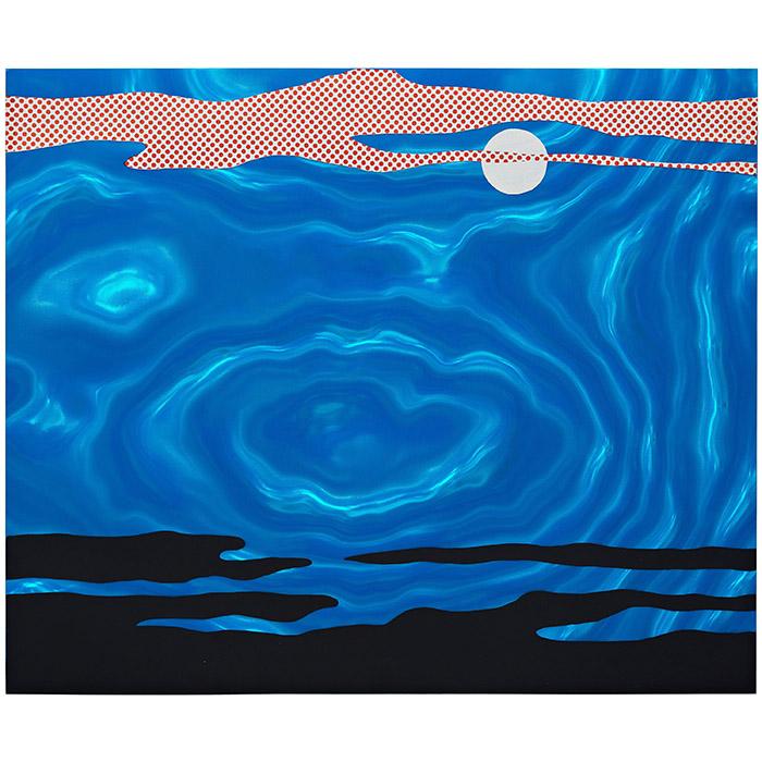 """Roy Lichtenstein, """"Moonscape"""" from """"11 Pop Artists, Volume I"""""""