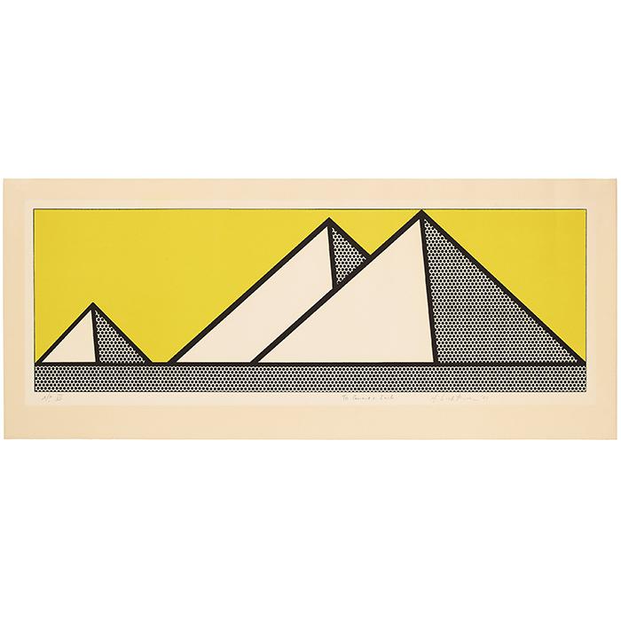 """Roy Lichtenstein, """"Pyramids"""", 1969"""