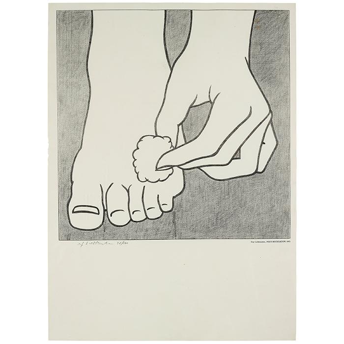 """Roy Lichtenstein, """"Foot medication"""", 1963"""