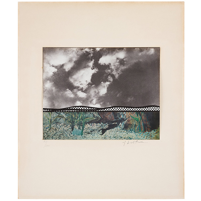 """Roy Lichtenstein, """"Fish and sky"""" from """"Ten from Leo Castelli"""""""