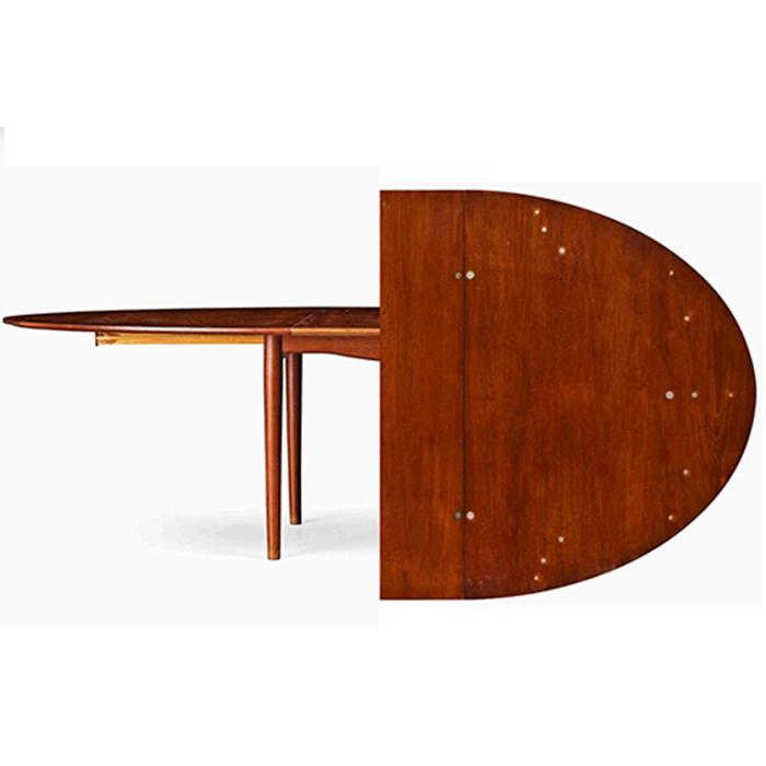 "Finn Juhl, a teak ""Judas"" or ""Silver"" table."