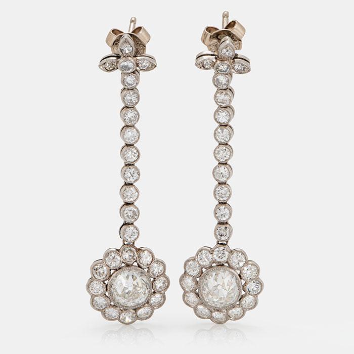 A beautiful pair of earrings
