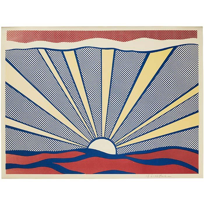 """Roy Lichtenstein, """"Sunrise"""", 1965"""