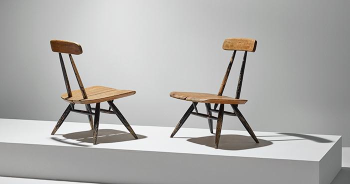 Ilmari Tapiovaara,  a pair of Pirkka lounge chairs