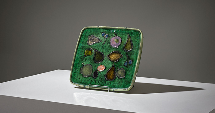 Rut Bryk, a stoneware relief