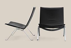 En samling möbler av Poul Kjaerholm E279