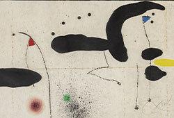Etsningar av Joan Miró E428